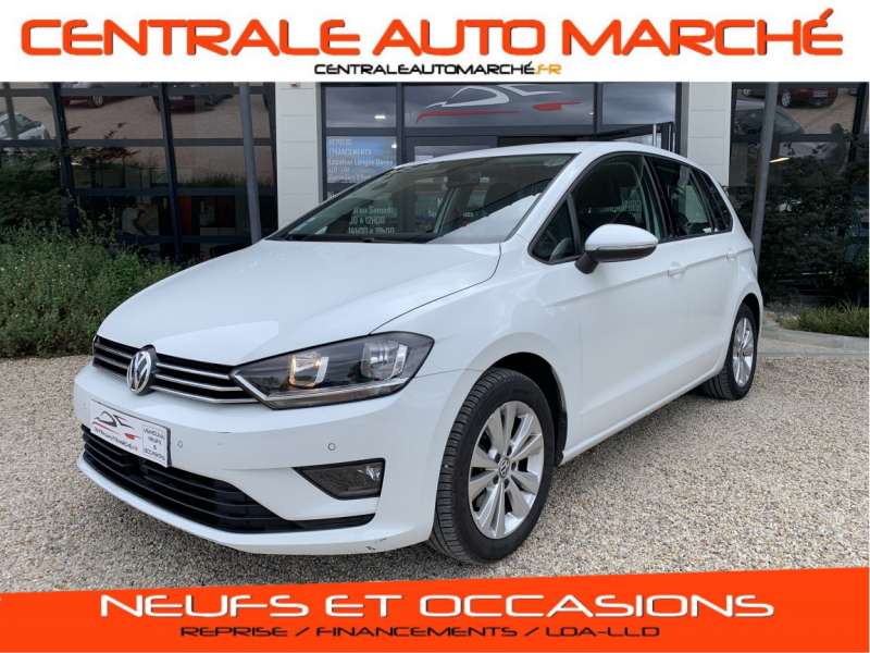 Volkswagen GOLF SPORTSVAN 1.6 TDI 110 FAP BlueMotion Technology confortline business Diesel BLANC Occasion à vendre
