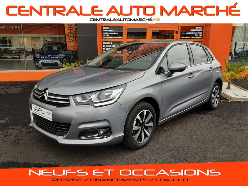 Citroen C4 BlueHDi 120 SetS EAT6 Millenium Business Diesel GRIS Occasion à vendre