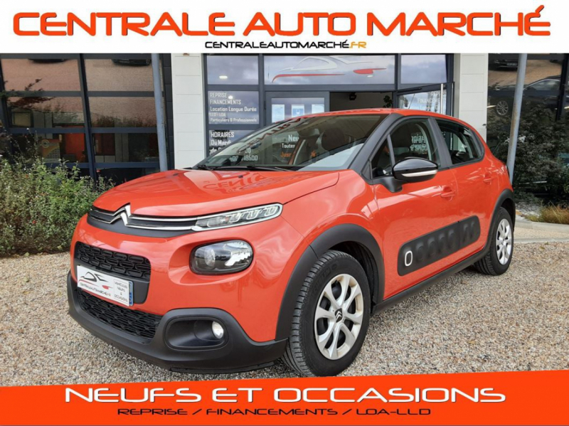 Citroen C3 BlueHDi 100 SetS BVM6 Feel Business Diesel ORANGE Occasion à vendre